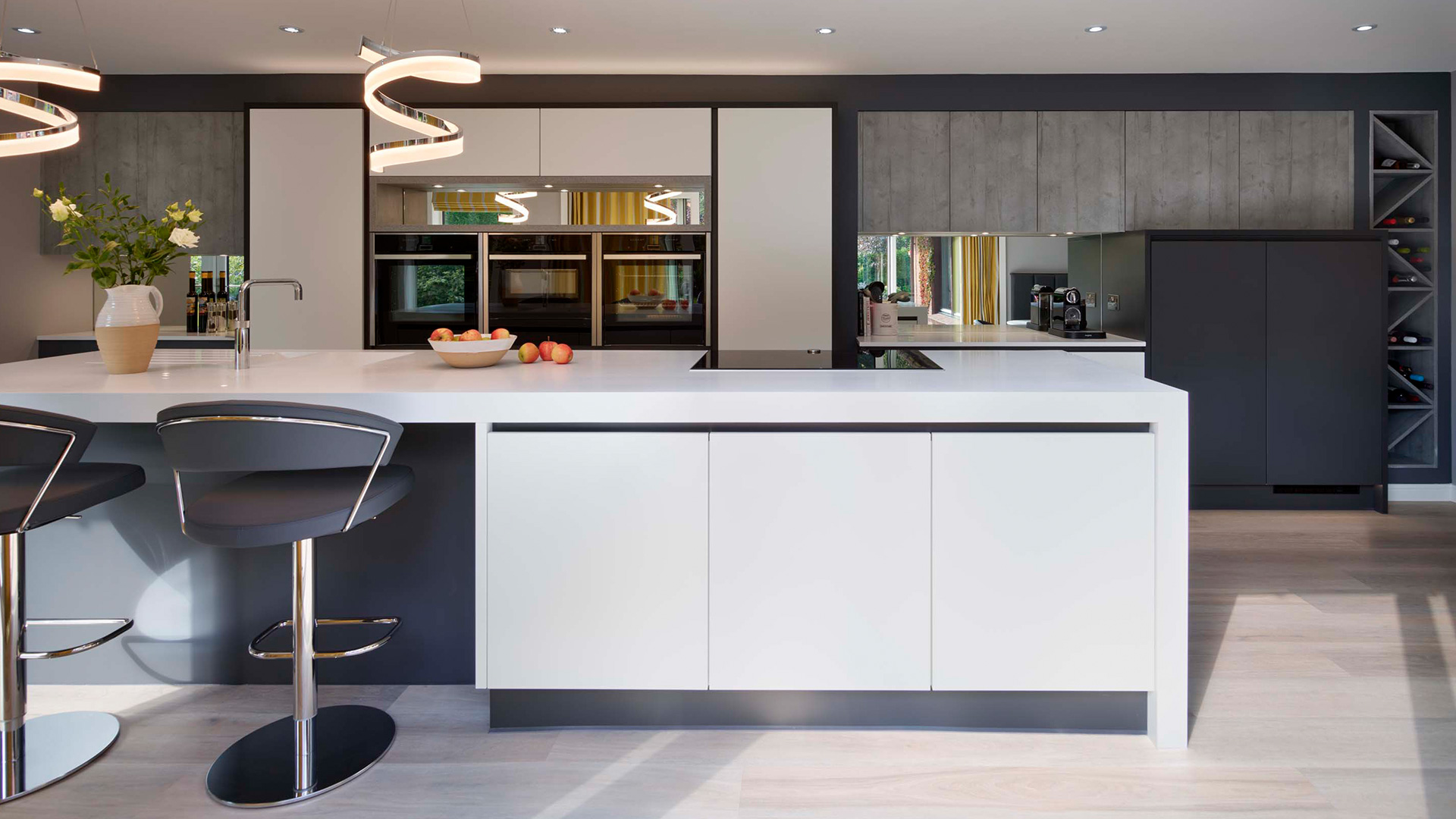 Modern Handle Less Kitchen With An Industrial Style
