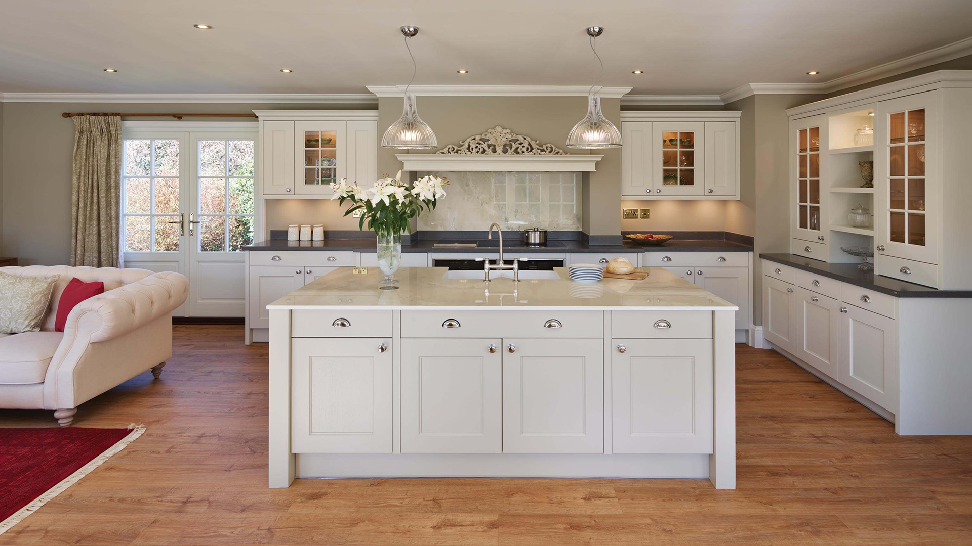 Country Style Kitchen With Quartz Worktops