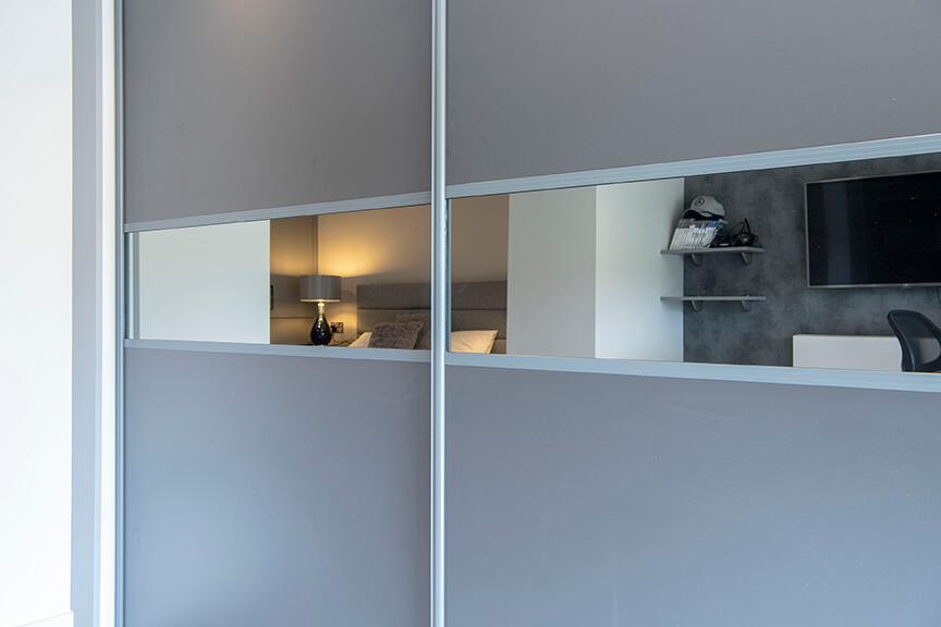 Modern Sliding Bedroom Wardrobes With Bedside Tables 4