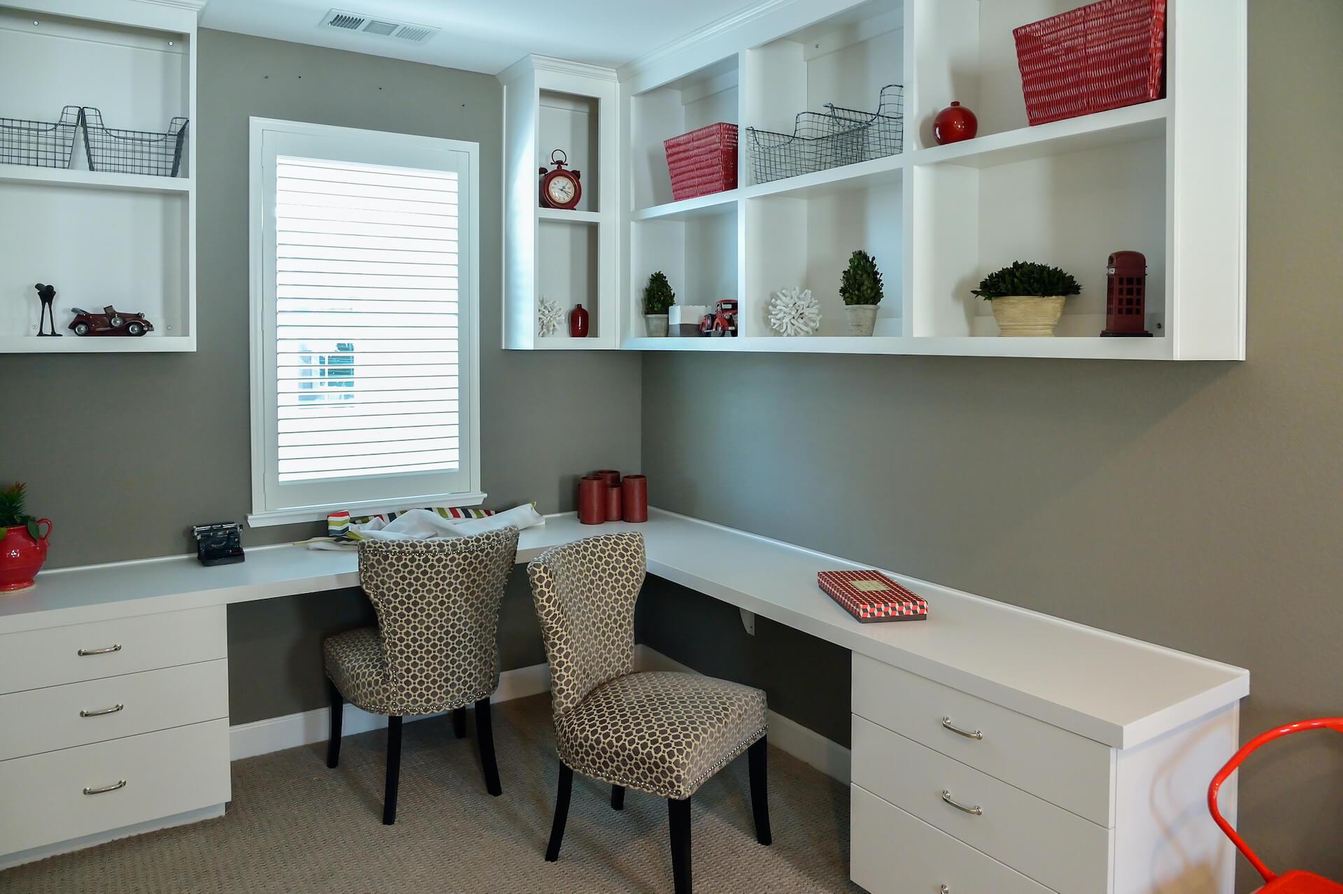 Modern Study Room Interior White