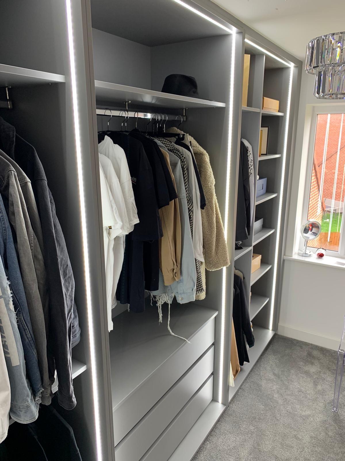 Walk In Wardrobe With Bespoke Lighting 6