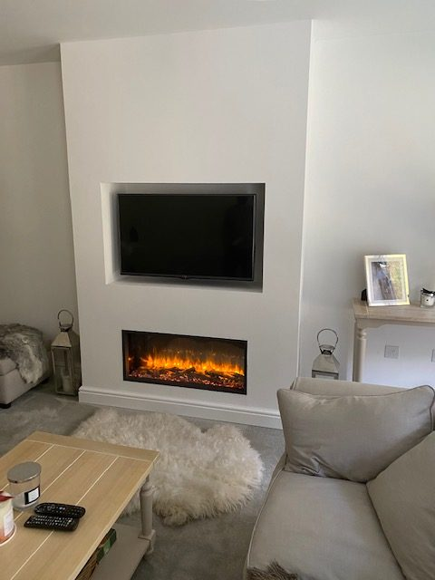 Wall Mounted Fireplace With Tv Surround Wharfedale Interiors 2
