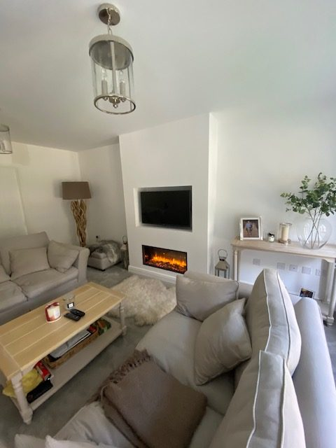Wall Mounted Fireplace With Tv Surround Wharfedale Interiors 4