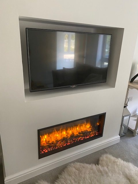 Wall Mounted Fireplace With Tv Surround Wharfedale Interiors 5